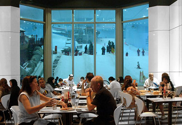 Globus Chair At Dubai´s Ski Resort In The Mall Of The Emirates