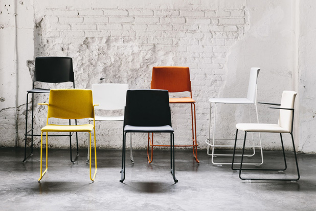 EMA seating family, designed by Lievore Altherr Molina