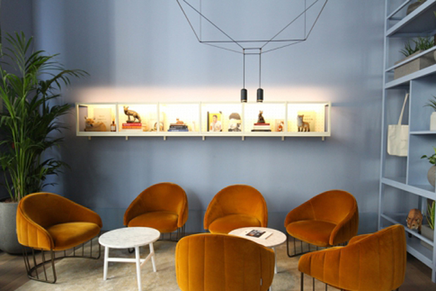 Sancal furniture and Vibia lamp at Leman Locke Hotel, London