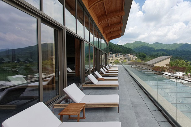 Point´s furniture at the Blue Mountain Country Club in South Corea. Photo: Courtesy of Point.