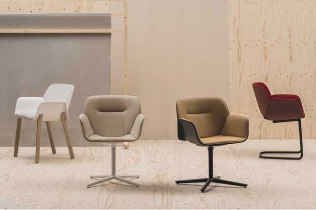 Nuez Chair Collection Designed By Patricia Urquiola For Andreu World