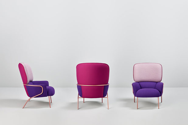COTTON armchairs , designed by Eli Gutiérrez for Missana,. Photo: Cualiti Photo Studio
