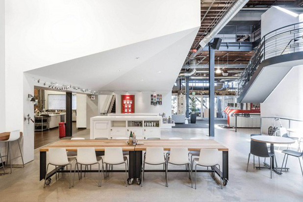 LOTTUS chairs and stools at Pinterest's HQ in San Francisco