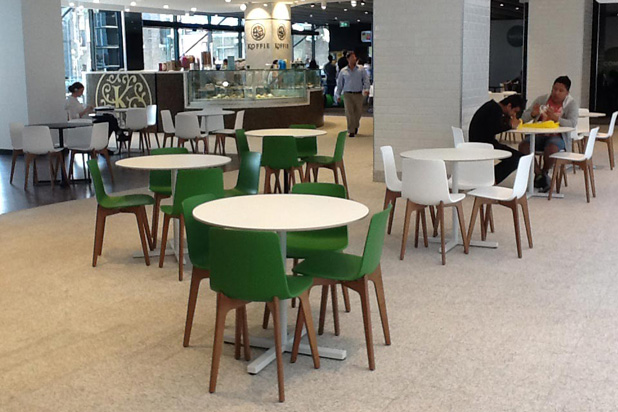 LOTTUS WOOD chairs at Sydney's Central Park mall