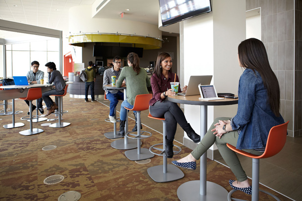 LOTTUS stools at the Grand Valley State University in Allendale, Michigan (USA)