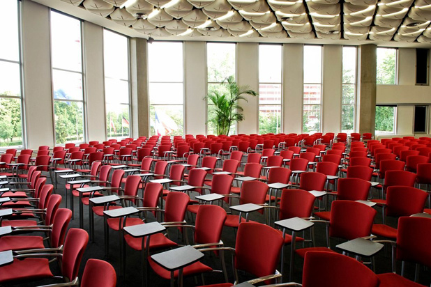 EINA chairs at the auditorium of the Palais des Congrès in Strasbourg, France