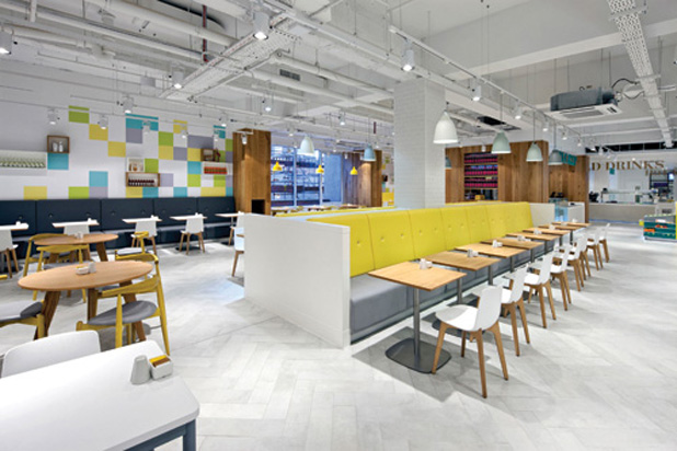 LOTTUS WOOD chairs at restaurant in London department store Debenhams