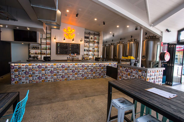 Mosaics by Dune at the Six Tanks Brewing Co brewery in Darwin (Australia). Photo: Courtesy of DUNE.