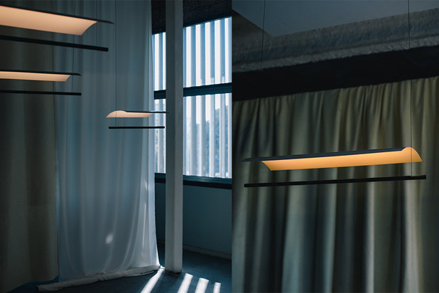 LÁMINA light system designed by Antoni Arola for Santa&Cole