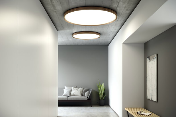 HOLE ceiling lamps designed by David Abad for B.lux