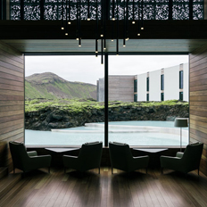 Vibia's designs light up the Retreat Hotel at Iceland´s Blue Lagoon