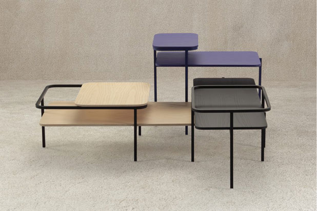 DUPLEX tables by Mut Design for Sancal 2016. Photo:  Courtesy of Mut