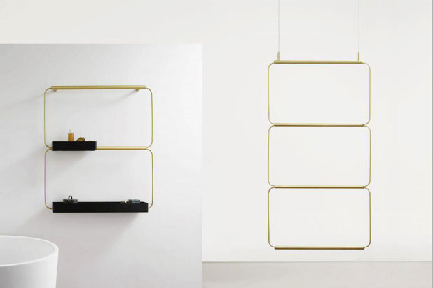 NUDO wall-mounted or hanging shelving system by Mut Design for Ex-t. Photo:  Courtesy of Mut