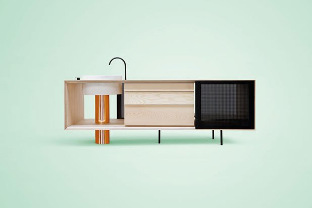 FLOAT kitchen by Mut Design for Miras Editions. Photo:  Courtesy of Mut