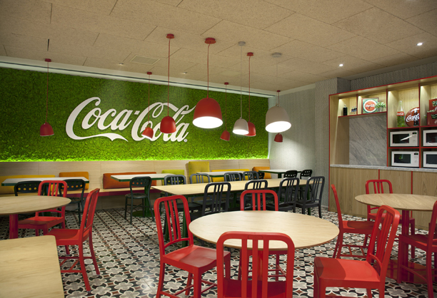 Scout lamps by Stone Designs for B.lux at Coca-Cola's HQ in Madrid