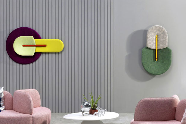 BEETLE acustic wall panels by Mut Design for Sancal. Photo:  Courtesy of Mut