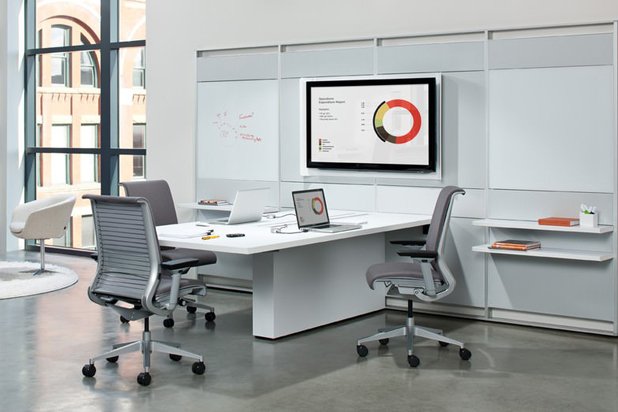 Office furniture, designed by Jorge Pensi for Steelcase