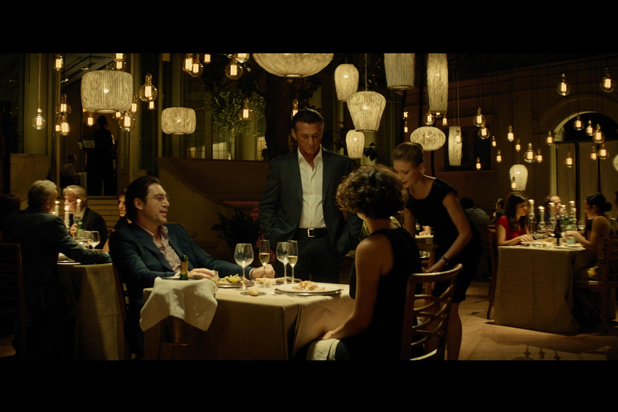 The CORAL collection light up a scene of The Gunman movie