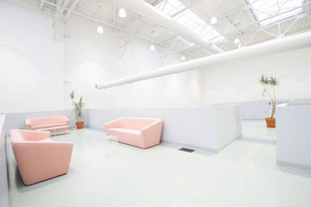 Sancal's Tea sofa at the Campari offices in Toronto